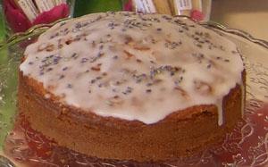 Sommerkuchen Lavendelblüte mit Lavendelblütenzucker